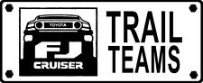 TOYOTA FJ Cruiser Trail Team vinyl decal sticker, pair, white color