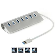 7 porte in alluminio USB 3.0 Hub ad alta velocità per Apple MacBook Pro Mac PC Laptop Nuovo