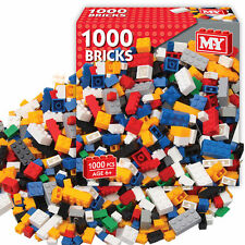 M.Y 1000 PIECE ASSORTED TOY CONSTRUCTION BUILDING BRICKS SET BLOCKS LEGO BUILD