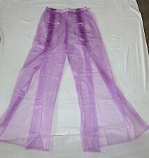 PVC-U-Like Lilac PVC Hareem Trousers Baggy  Pants See Thru Plastic Vinyl S M