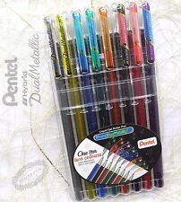 free ship 8 colors CHOOSE 2 pcs Pentel K110 Hybrid Daul Metallic roller pen
