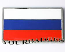 Enamel Chrome Russian FLAG Car Badge Russia Autovaz Lada