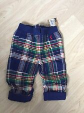 JOULES BABY BOY CHECK TARTAN TROUSERS SIZE 6-9 MONTHS BRAND NEW WITH TAGS