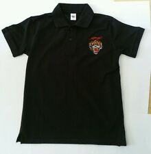 ED HARDY Boy's Black JOSH TIGER polo T shirt Size Large 12 years BRAND NEW Gift