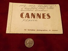 LOT OF OLD VTG MID-CENTURY EUROPEAN COLORED POSTCARDS, CANNES FRANCE, 10 TOTAL