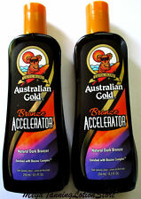 NEW AUSTRALIAN GOLD BRONZE ACCELERATOR NATURAL BLACK BRONZER TANNING LOTION