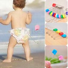 100Pcs/Set Mixed Color Safety Locking Baby Cloth Nappy Diaper Craft Pins