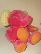 Carter's Plush Singing Pink Elephant Animated ~ Kicks Legs ~ Twinkle Twinkle