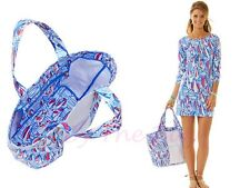 LILLY PULITZER NWT RESORT WHITE RED RIGHT RETURN NEW CANVAS TOTE