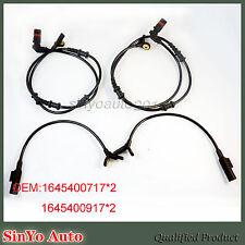 Set 4 ABS Wheel Speed Sensor for Mercedes-Benz ML320 ML350 GL320 1645400917 New
