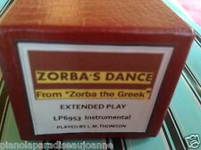 ZORBA'S. DANCE -   BRAND NEW LONG PLAY  PIANOLA (PLAYER PIANO)  ROLL