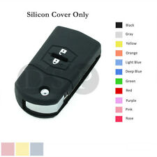 Silicone Cover Holder Shell fit for MAZDA 3 5 6 Flip Remote Key Case 2 BTN 11 BK