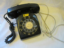 Vintage Black Plastic Rotary Telephone Desktop Hard Wired Northern Telecom