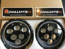 land rover defender 7'' LED Testa Faro Con Anello Luce Alogena Halo Ring