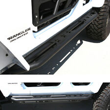 07-16 Jeep JK Wrangler Black Side Step Armor Rocker Slider Tube Running Board