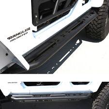 07-16 Jeep JK Wrangler Black Side Step Armor Rocker Slider Tube Running Board