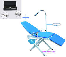 New Updated Portable Folding Dental Chair + 2H Dental Air Scaler Sonic Hygienist