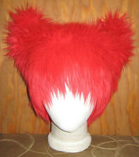 RED FOX EAR KITTY CAT FUR HAT MEME CYBER FESTIVAL ANIME EDC EDM FESTIVAL BURNER
