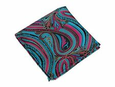 Lord R Colton Masterworks Pocket Square - Lake Toya Peacock Silk - $75 New