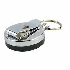 Retractable Metal Card Badge Holder Steel Ring Belt Clip Pull Key Chain IN