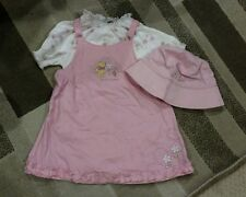 Disney Classic Pooh Toddler Girls Pink Winnie the Pooh Dress With Hat 12-18M
