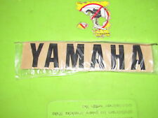 "NOS Yamaha Universal Black Gas Tank Sticker   Measures 7 "" x  1 1/2 """