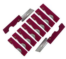 Derma-Safe Folding Utility Razor Knife 10-pack RED Ultralight Survival Tool Kit