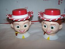 LOT OF 2  DISNEY ON ICE TOY STORY JESSIE JESSE PLASTIC STEIN MUG