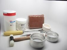 Delft Clay Sand Deluxe Casting Kit Crucible Borax Gold Silver Copper 100mm Rings