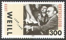 Germany 2000 Kurt Weill/Music/Composer/Theatre/Entertainment/People 1v (n33351)