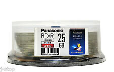 25 Blu Ray Panasonic BD-R 4X Rohlinge 25GB Printable Japan Original-MID-Code