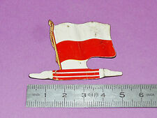 PLAQUE METAL DRAPEAU BISCUITS L'ALSACIENNE EUROPE 1962 POLOGNE POLSKA