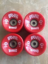 BAHNE Longboard Skateboard Wheels Voodoo Red 65mm 80a Bearings A-7 In
