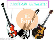 The Beatles Fab Four Mini Guitar Set of 3 Christmas Ornament, Fridge, R Mirror