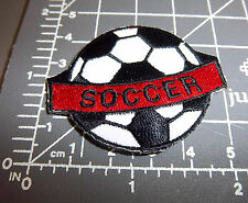 Soccer Ball Iron on Embroidered Patch little patch w/ word - great for jerseys!