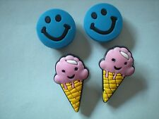 JIBBITZ CLOG SHOE CHARMS CROCS BRACELETS BELTS 4 ICE CREAM CONE SMILE FACE