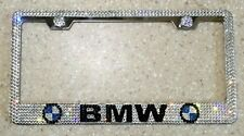 BMW License Plate Frame made with Swarovski Crystals - Car Jewelry