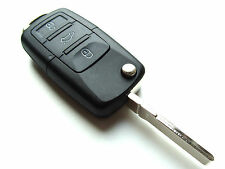 VW Sharan Touran Tiguan 3 Button Flip Remote Key Fob Case (Blank HAA Blade)