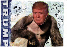 monkey business e9Art ACEO Trump Political Pop Art Collage Original Art Painting