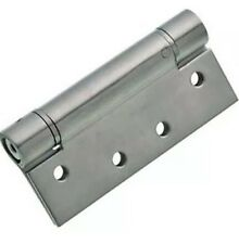 Self Chiusura Cerniera a molla regolabile-placcata in cromo satinato - 102mm-Confezione da 2