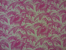 ECUADOR GREY PINK A48 100% LINEN CURTAIN SOFT FURNISHING FABRIC TROPICAL