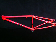 "RARE Restored Day Glo Pink 24"" KASTAN KEX JUNIOR CRUISER FRAME Old School BMX"