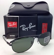 Ray-Ban Sunglasses RB 8301 002 Tech 59-14 Black & Carbon Fiber w/ Crystal Green