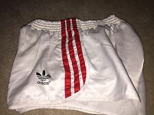 Stunning Adidas Vintage Satin Football Sprinter Shiny High Cut Shorts M D6