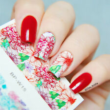 BORN PRETTY Nail Art Water Decals Transfer Stickers Fantastic Flower Tips W15