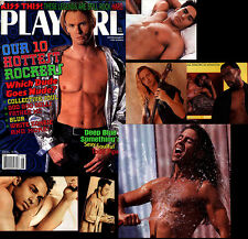 PLAYGIRL 8-96 DEEP BLUE HUNK HUGE FATHER MC ROCKERS HAIRY LONG HAIR AUGUST 1996
