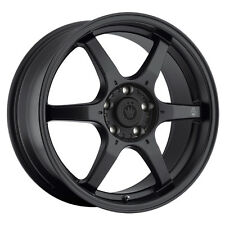 17X7.5 KONIG BACKBONE 5X114.3 +45 Matte Black Wheels Fits Civic Mazda 3 6 TC 201