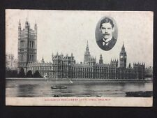 RP Vintage Postcard - London #HC1 - Houses of Parliament & C Lyell MP 1906