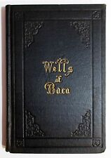 Rare Antique 1859 Wells of Baca VICTORIAN MOURNING Death Funeral Mourner's Book