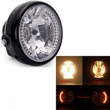 12V Motorcycle Headlight for Harley Bobber Dyna Amber LED Turn Signal Light
